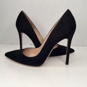 Gianvito Rossi 105 suede black shoes